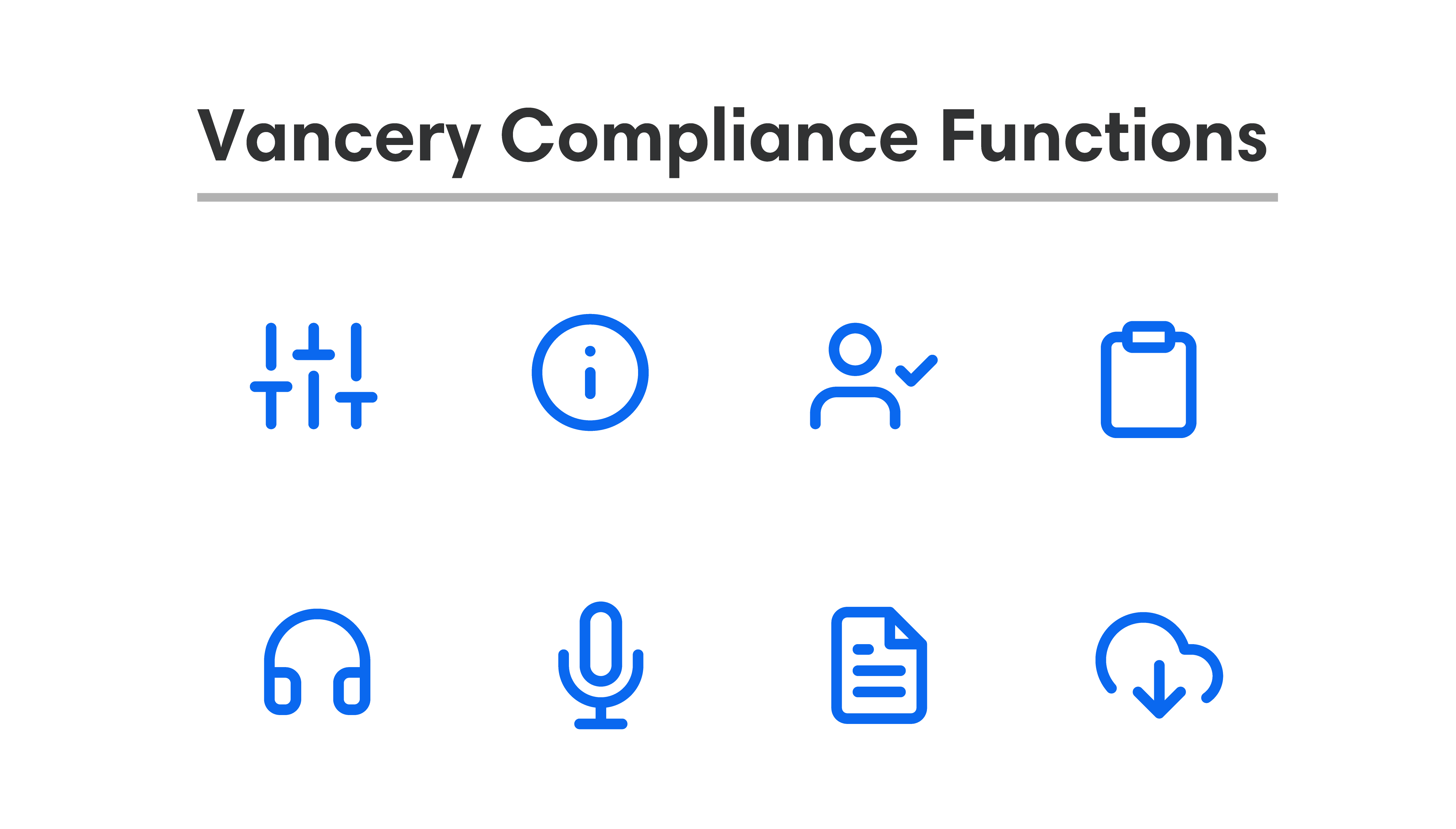 Introducing the Vancery Compliance Framework